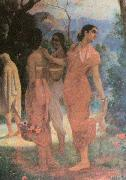 Raja Ravi Varma Ravi Varma Shakuntala, a character in the epic Mahabharata oil painting picture wholesale